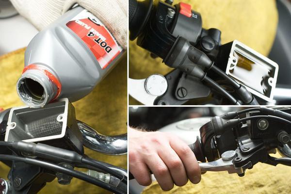 Картинки по запросу картинки прокачка тормозов на скутере