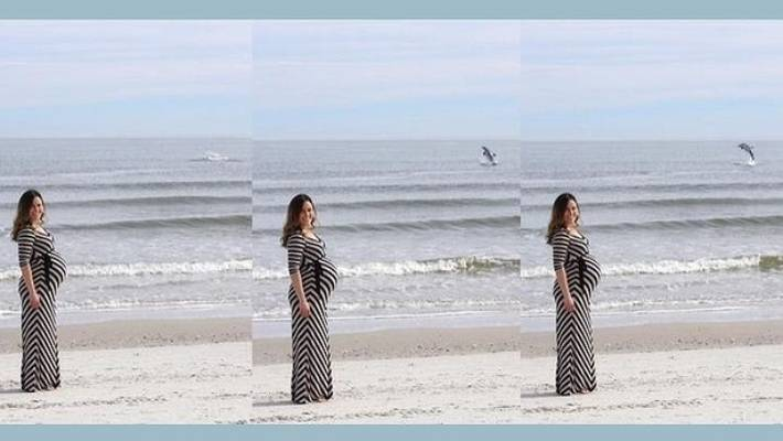 A Man Took a Picture of His Pregnant Wife and When He Got Home He Saw Incredible Details