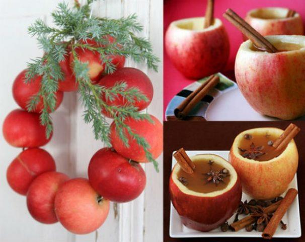 Сделайте новогодний венок своими руками из яблок