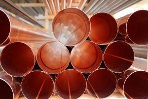 Pipes made out of copper.