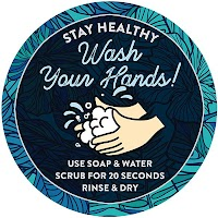 "9"" Blue Circle - Wash Your Hands"