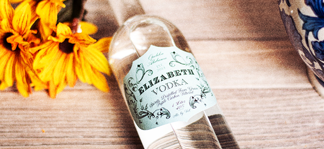 Bottle of Elizabeth Vodka by John Emerald Distilling Company