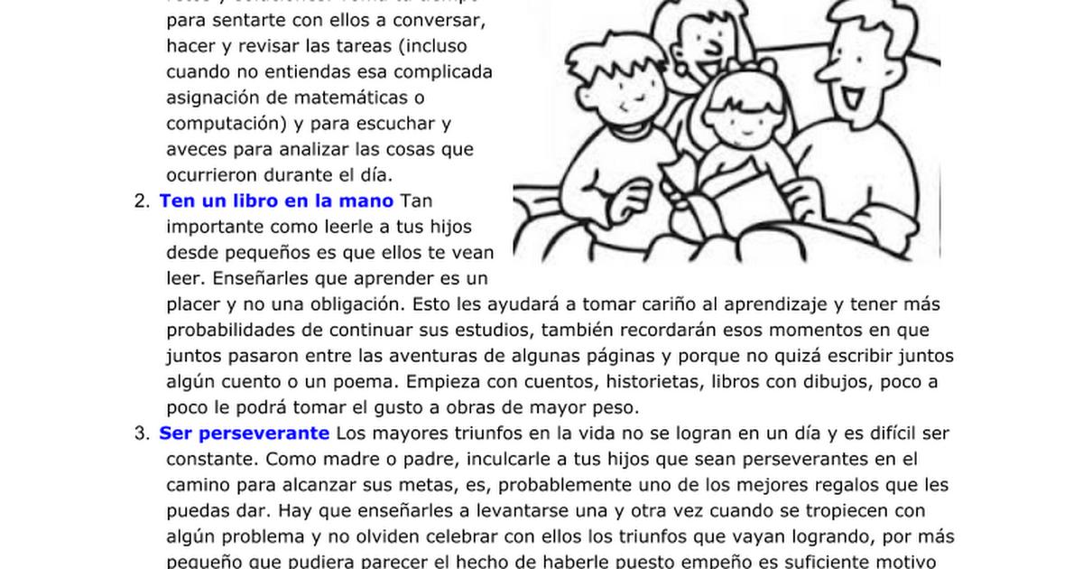12 Tips Para Criar Hijos Exitosos Google Docs