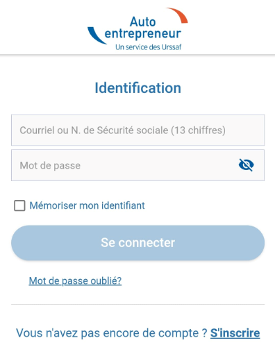 identifiant-appli-autoentrepreneur-urssaf