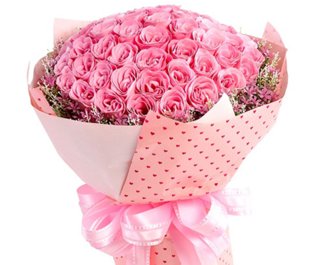 Exotic Flowers-Rose pink bouquet