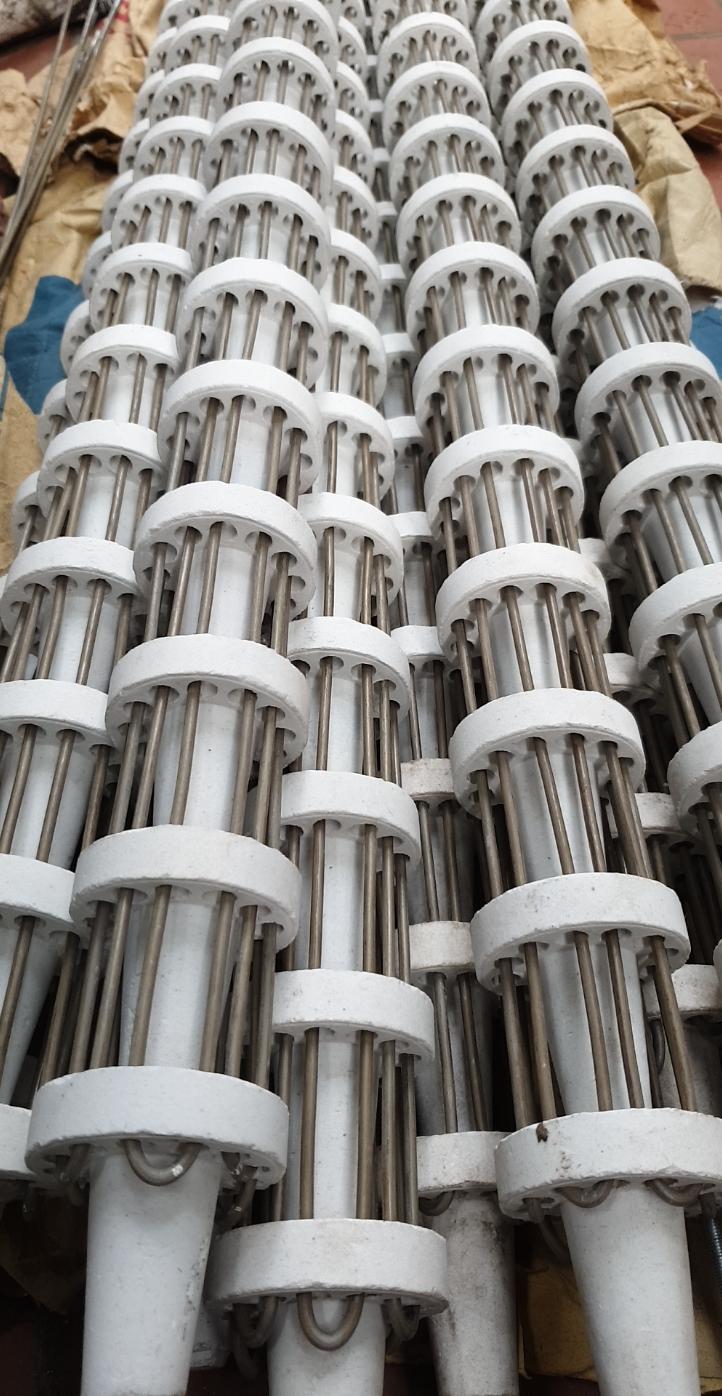 Sản xuất điện trở sứ thổi gió, theo yêu cầu điện áp 220v hoặc 380v
