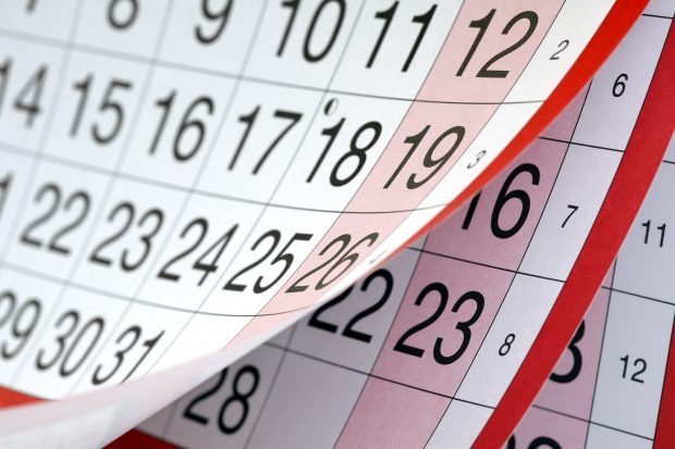 Image of a calendar - Shows that schoolteacher created a method for tracking daily spend made a million dollars