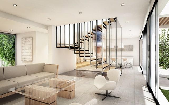 Mẫu thiết kế nội thất phòng khách căn hộ cao cấp