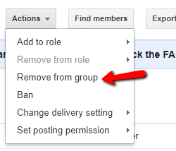 Remove Members
