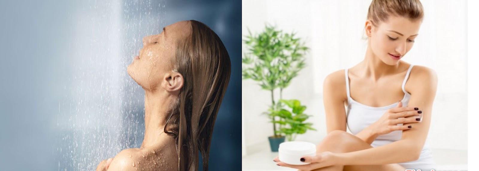 Chăm sóc da khi tắm nước nóng để tránh khô da
