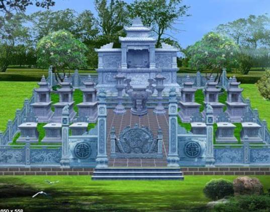 Lăng mộ gia đình đẹp theo đúng phong thủy