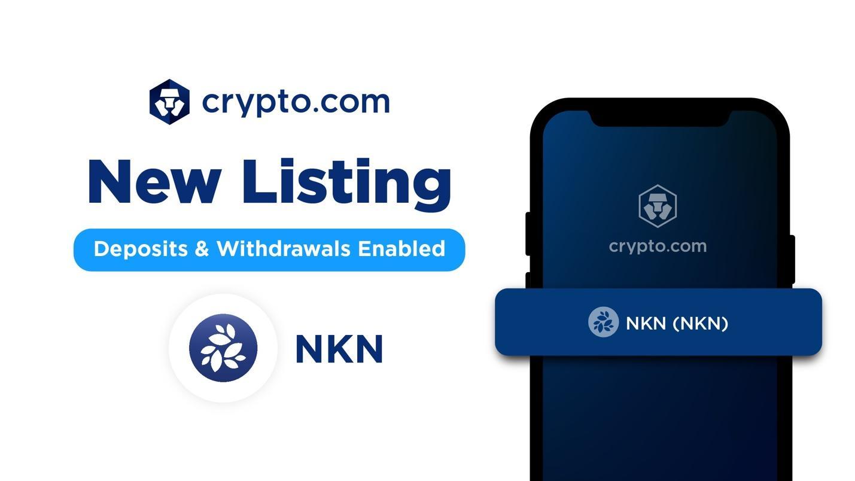 NKN listed on Crypto.com
