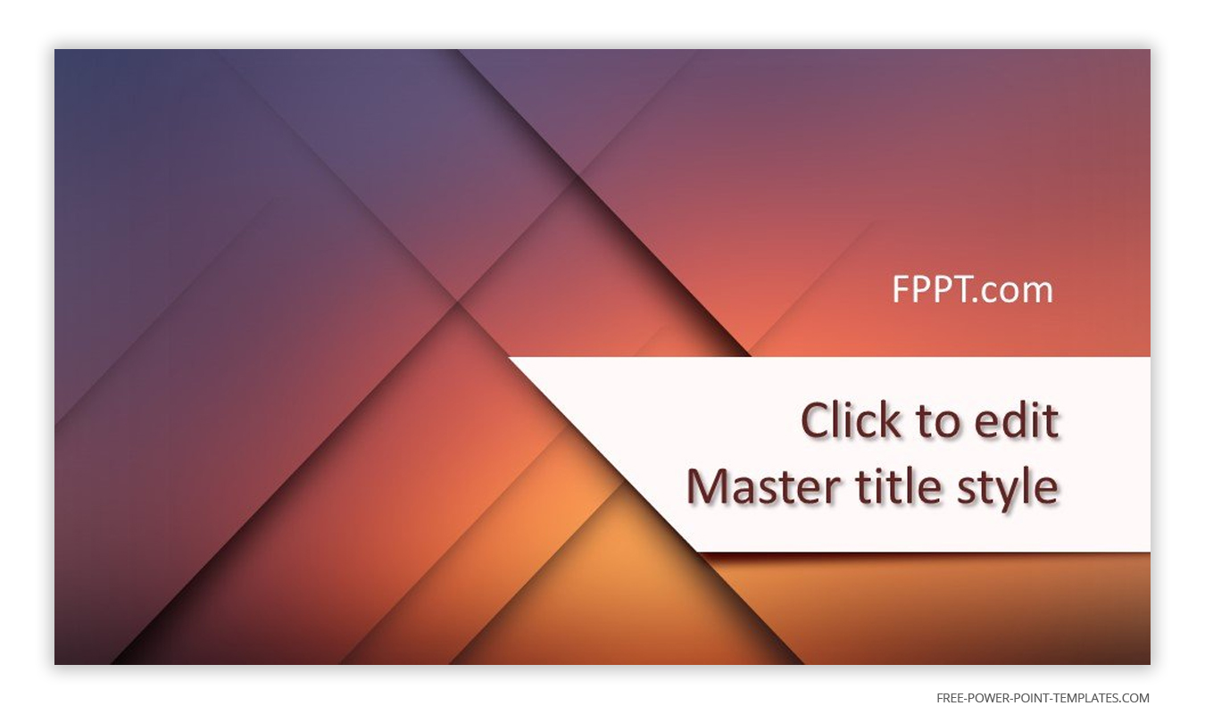 This introduction slide features modern geometric shapes and a warm mandy background.