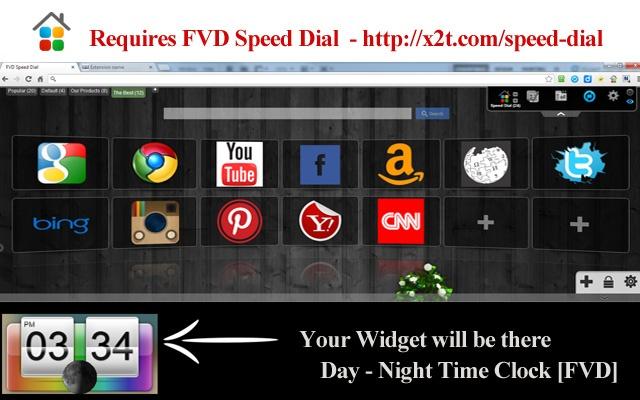 Day - Night Time Clock [FVD] chrome extension