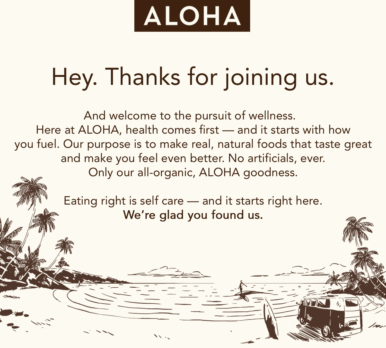 ecommerce emails food brand