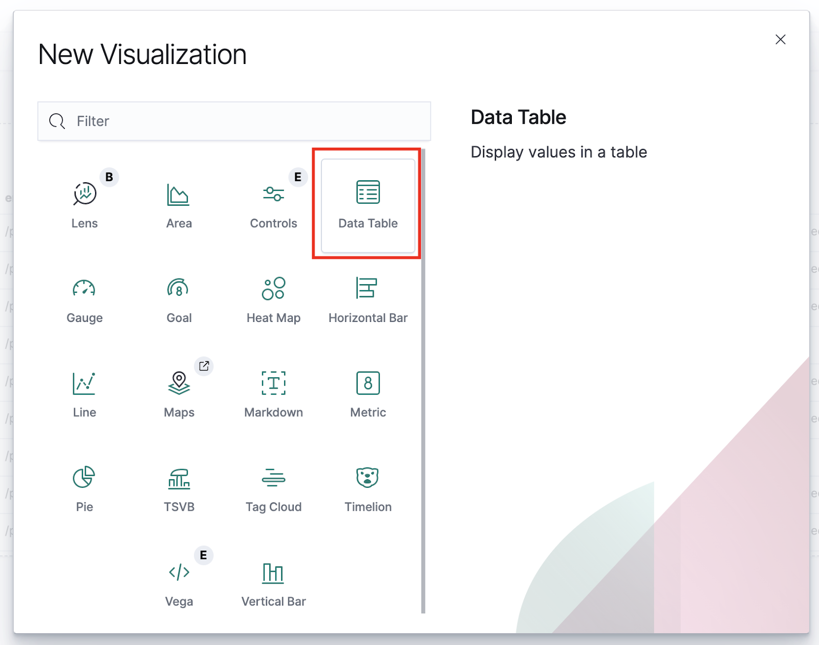 Picking a visualization template
