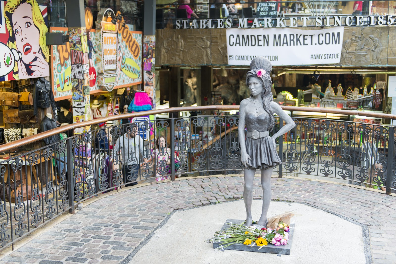 The Amy Winehouse Statue at Camden Stables Market