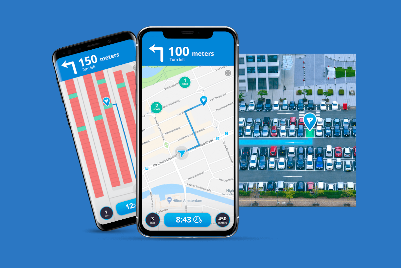 Heat map for parking space booking