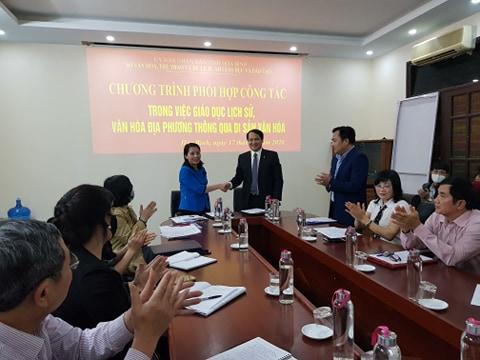 Lễ ký kết chương trình phối hợp công tác  giữa Sở Văn hóa, Thể thao và Du lịch và Sở Giáo dục và Đào tạo