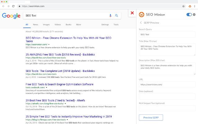 SEO Minion free google chrome extensions tool 2020