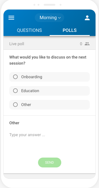 Survey with own answer for participants example