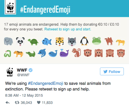 EndangeredEmoji, Emojis, WWF, Webtexto content marketing conteudo marketing digital