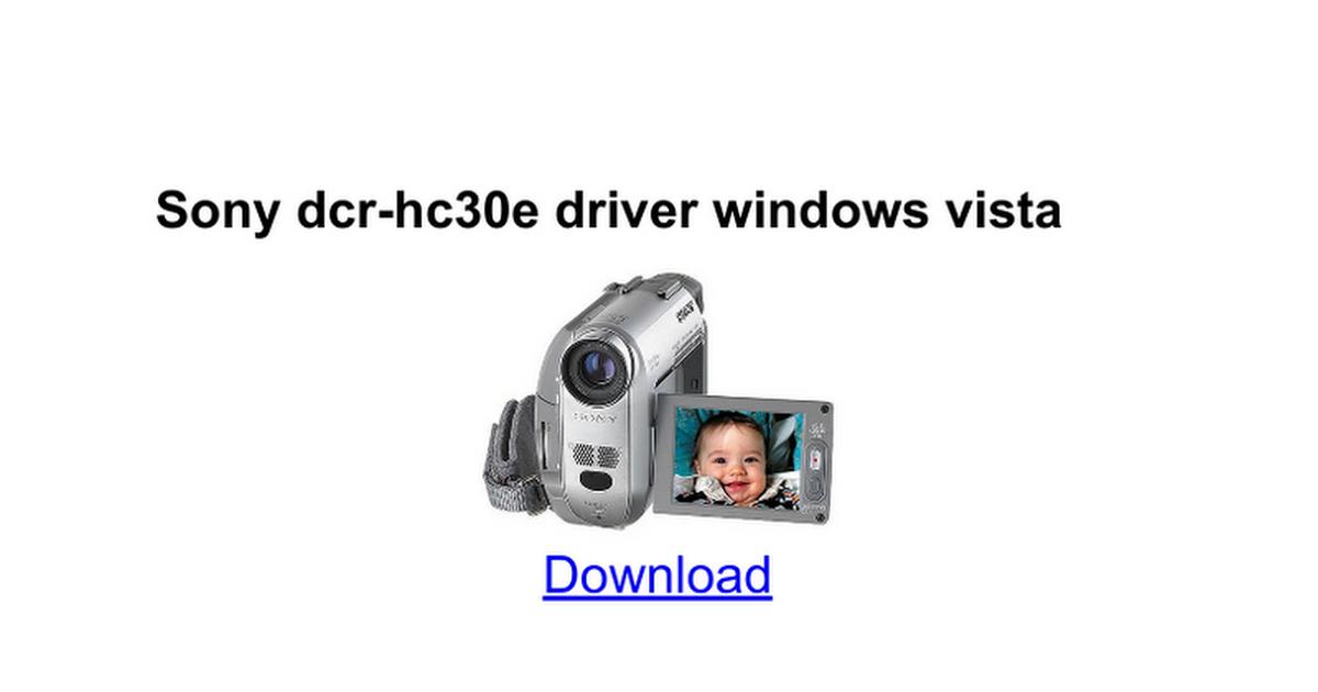 Скачать драйвер для видеокамеры sony dcr-hc27e