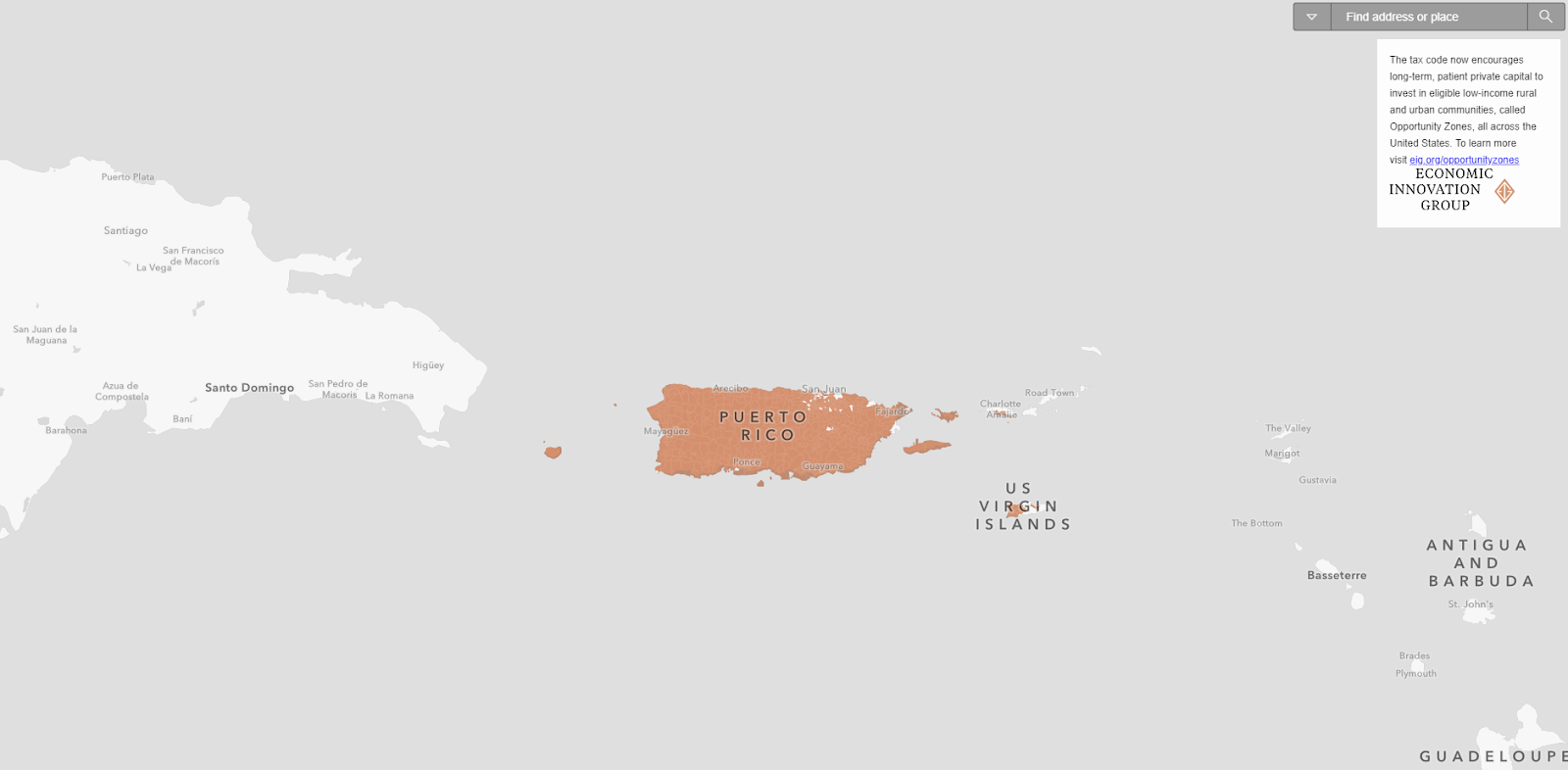 Opportunity Zone Map Puerto Rico