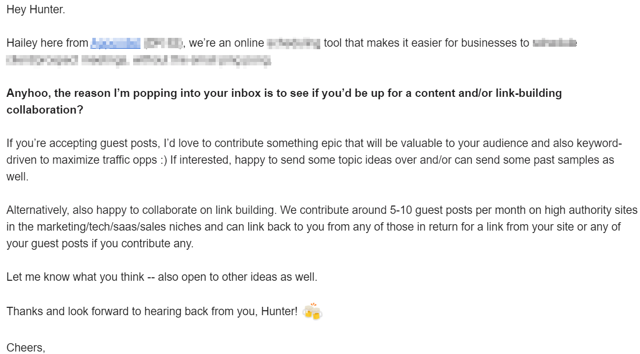 Good pitch example #2