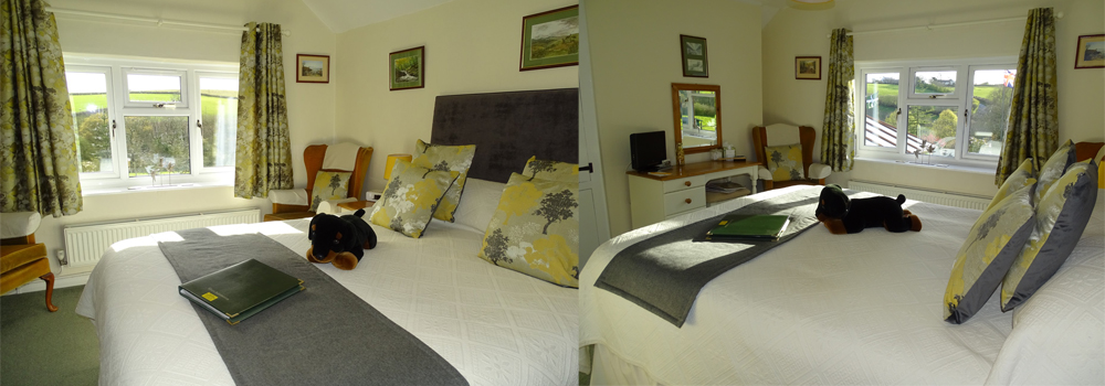 Enjoy the spacious Marwood room while on holiday at West Down Guest House in North Devon.