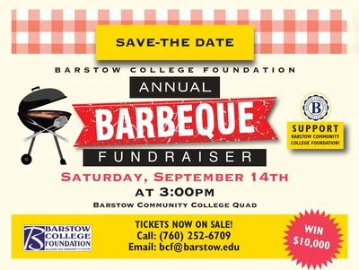 Barstow College Foundation Annual Barbeque Fundraiser Flyer