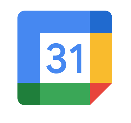 Google Calendar Logo with blue, yellow, red, and green forming a square around the number 31