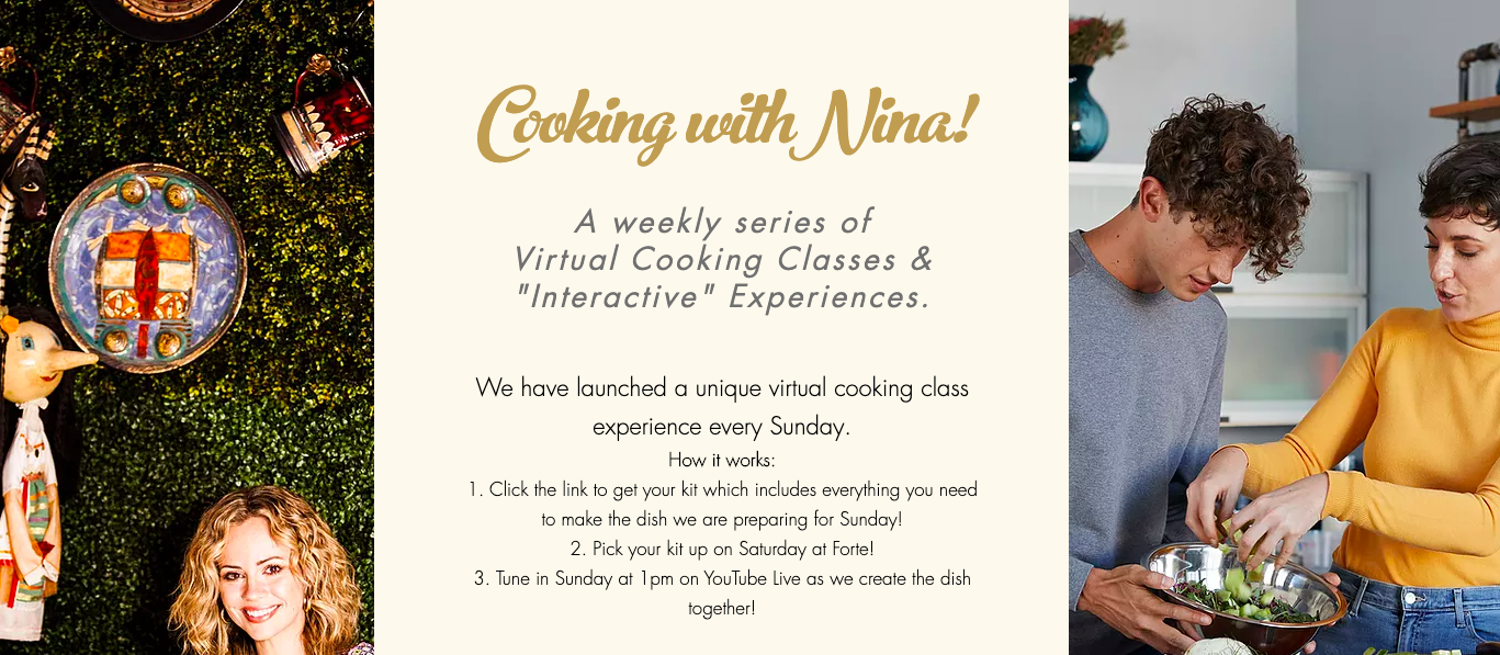 virtual cooking class Forte