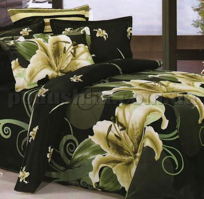 Красивое <b>постельное белье</b> клетки с цветами