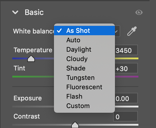 Adjusting white balance in post.