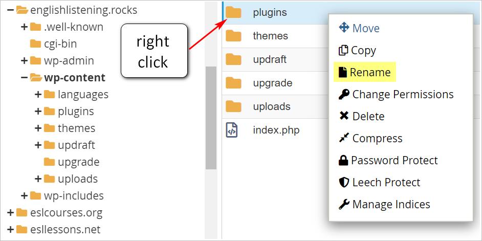 WP rename folders