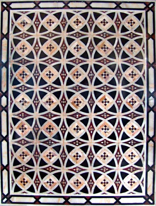 Circular Arabesque Flower Pattern by Mozaico
