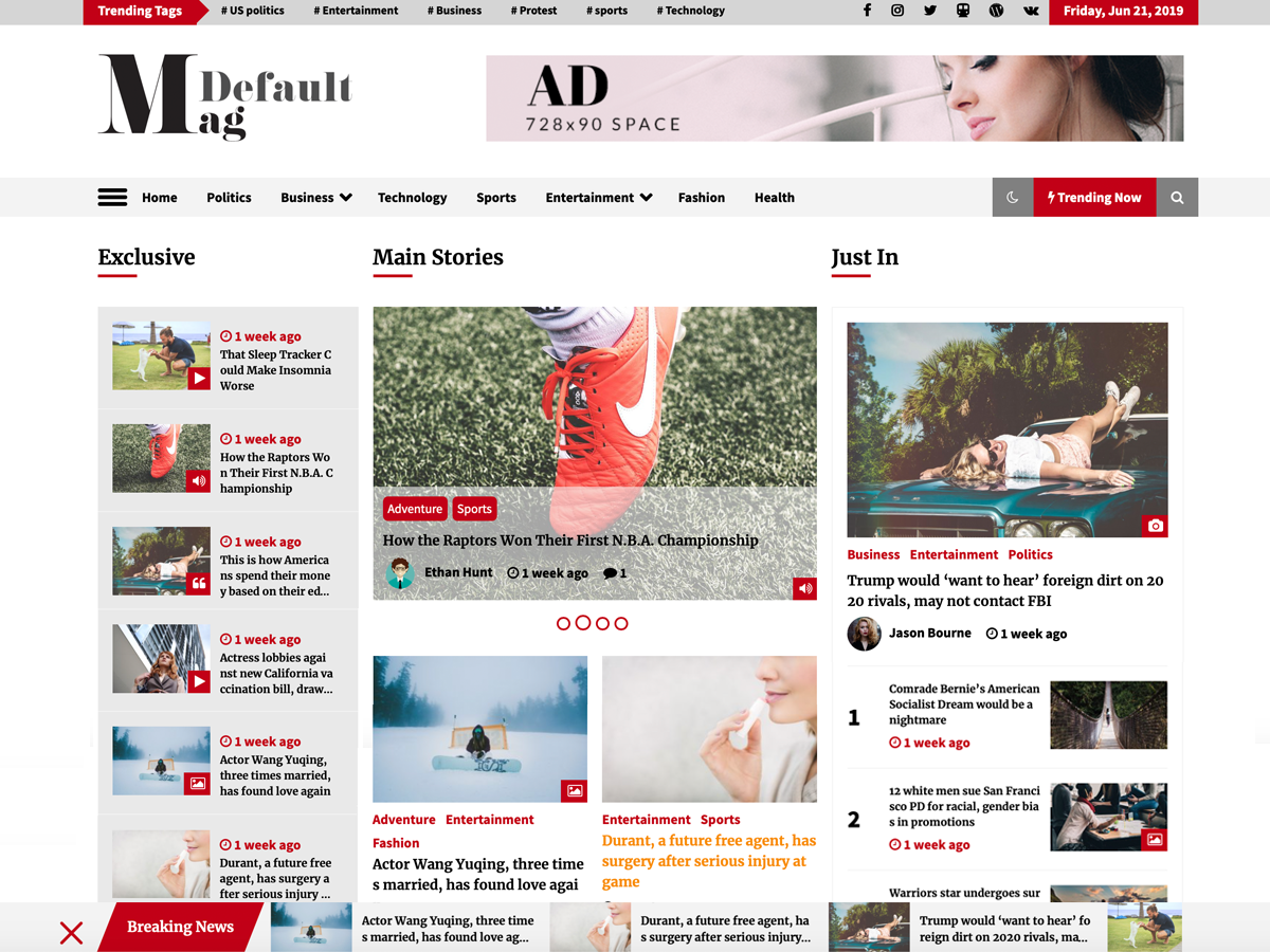 defaultmag wordpress theme
