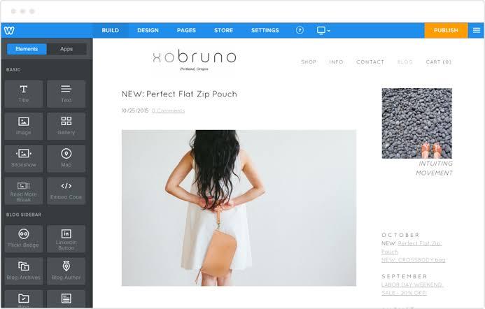 Website design with Weebly website builder