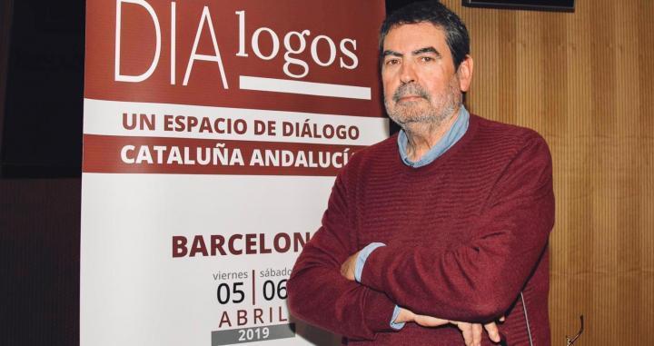 Javier Aristu, en la entrevista con 'Crónica Global', en las jornadas de diálogo Catalunya-Andalucía, en el Palau Macaya /CG