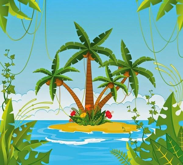 Картинки по запросу остров рисунок