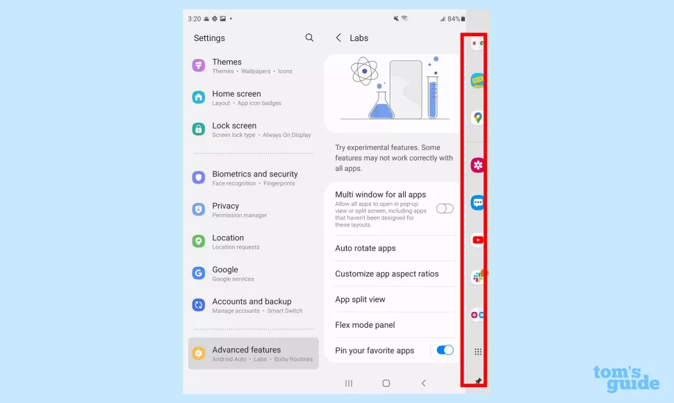 Ghim các ứng dụng yêu thích trên Taskbar của Galaxy Z Fold 3
