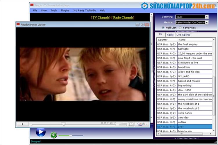 Phần mềm Readon TV Movie Radio Player