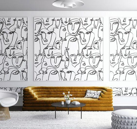 La llegada del Face line art a la decoración | Teresa Galán I Arquitectura  y Diseño Interior