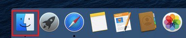 """Open the """"Finder"""""""