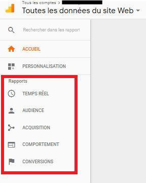 Image rapport compte Google Analytics