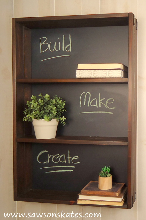 chalkboard shelf unit, a craft that makes money