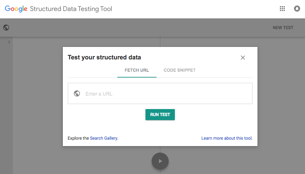 Google Structured Data Testing Tool for schema