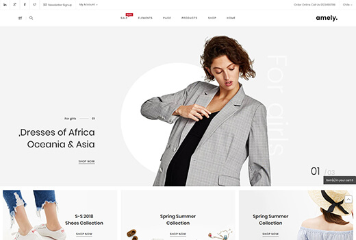 Watches magento theme amely