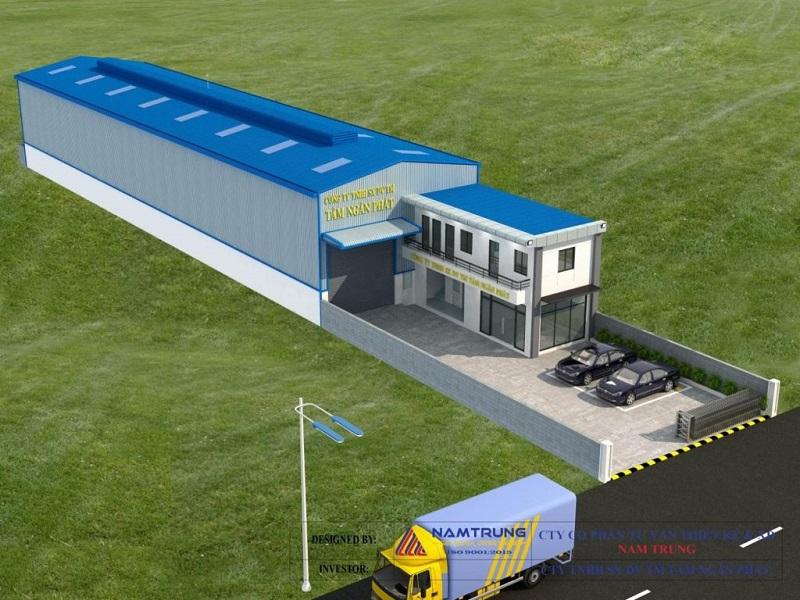 ý tưởng thiết kế nhà xưởng khung thép